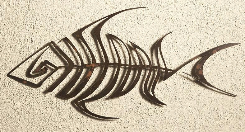 Bone Fish Wall Art Outdoor Decorelizabeth Keith Intended For Outdoor Metal Art For Walls (Image 7 of 20)