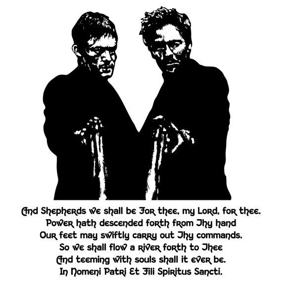 Boondock Saints Prayer Vinyl Decal Wall Art Throughout Boondock Saints Wall Art (Image 7 of 20)