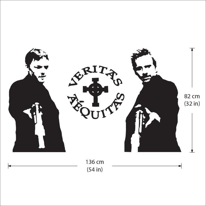 Boondock Saints Vinyl Wall Art Decal Within Boondock Saints Wall Art (Image 11 of 20)