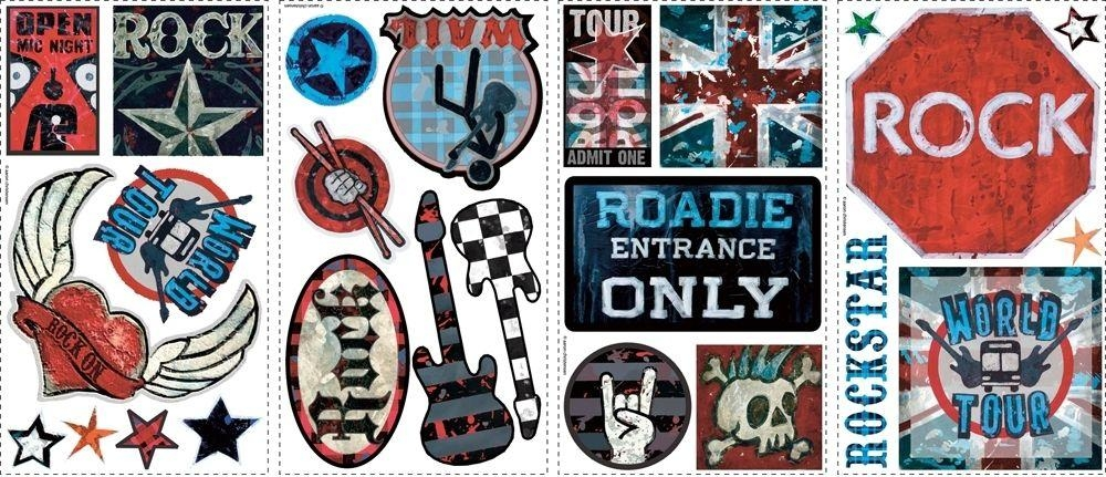 Boys Rock And Roll Wall Stickers For Rock And Roll Wall Art (Image 5 of 20)