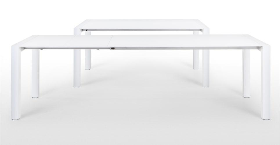 Bramante White Gloss Extending Dining Table | Made Within 2018 High Gloss White Extending Dining Tables (Image 1 of 20)