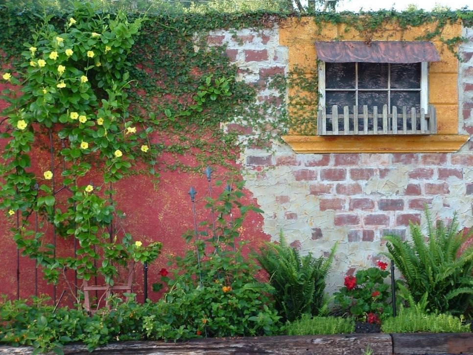 Brick Wall Garden Designs, Decorating Ideas, | Design Trends Intended For Italian Garden Wall Art (Image 13 of 20)