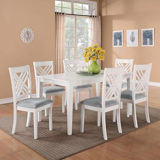 Brilliant Brilliant White Dining Room Sets Best 20 White Dining Regarding White Dining Sets (Image 8 of 20)