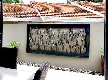 Brilliant Garden Wall Art Metal Large Garden Wall Art Alices Pertaining To Metal Wall Art For Outdoors (Image 7 of 20)