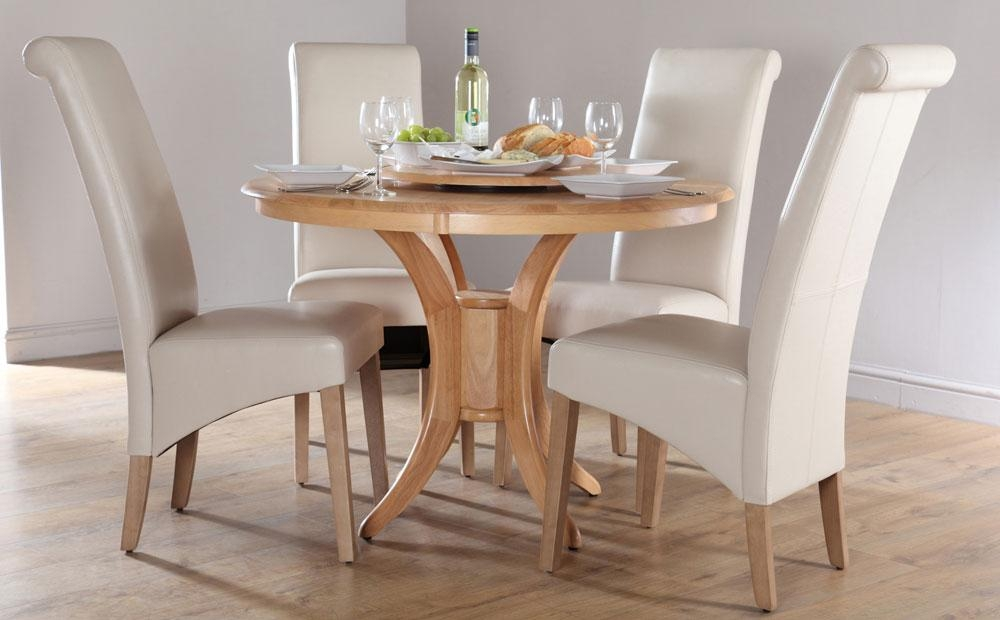 Brilliant Round Dining Table Sets For 4 With Round Dining Table In Latest Round Oak Dining Tables And 4 Chairs (View 15 of 20)