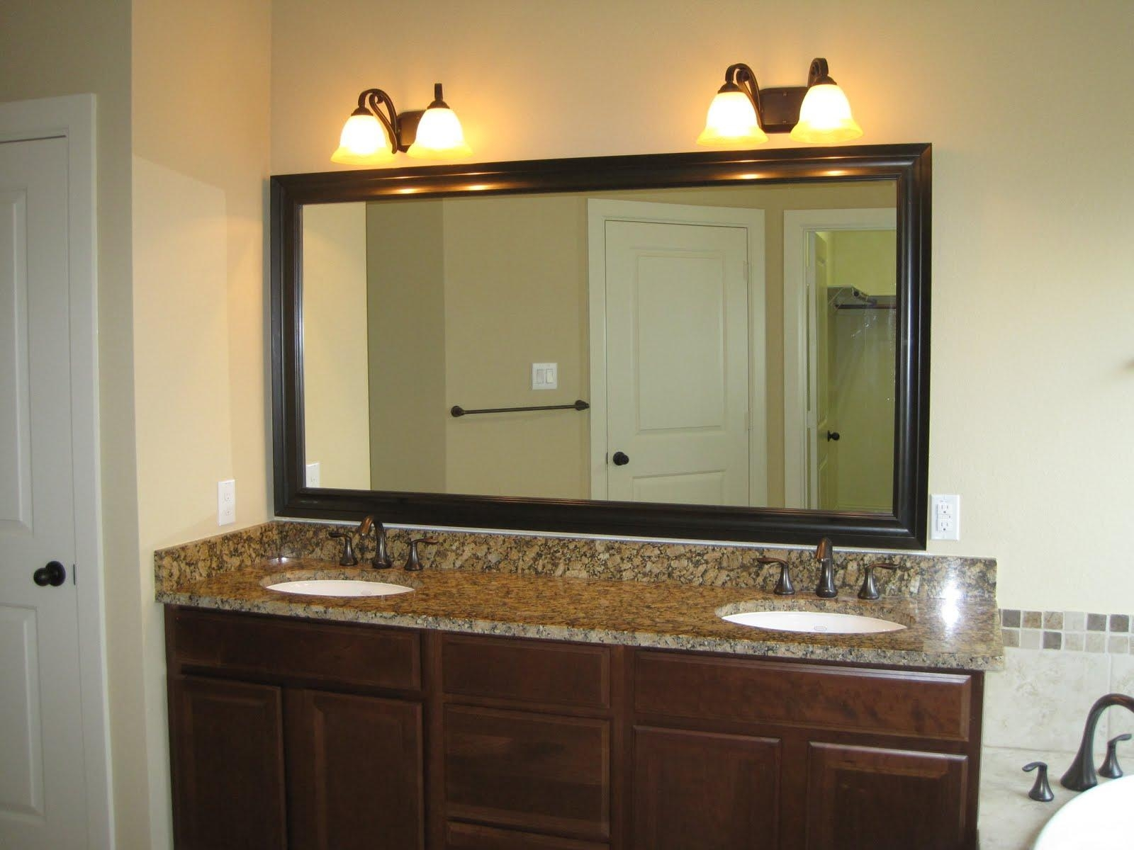 Bronze Bathroom Light Fixtures Oilrubbed Bronze Light Above Mirror With Regard To Bathroom Lighting And Mirrors (Image 17 of 20)