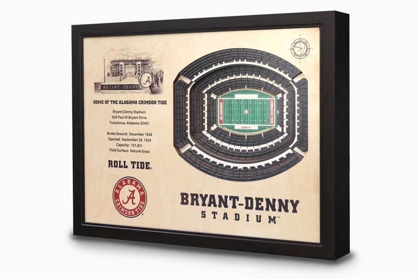Bryant Denny Stadium 3 D Wall Art – Alabama Crimson Tide Football Regarding Lsu Wall Art (Image 7 of 20)