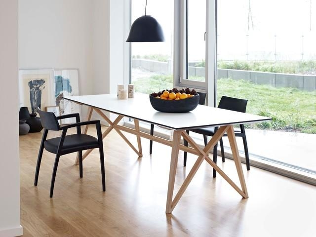 Butterfly Ash Modern Dining Table Modern Dining Tables With Modern Pertaining To Most Popular Modern Dining Tables (Image 8 of 20)