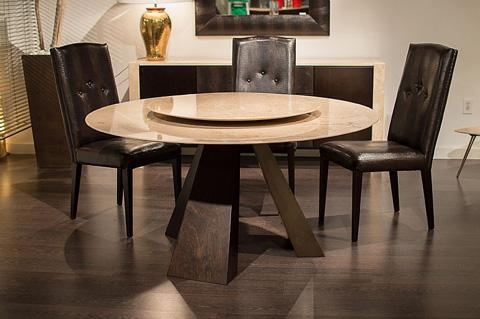 Butterfly Wood Round Dining Table | 9697/59 | Stone International With Newest Stone Dining Tables (Image 3 of 20)