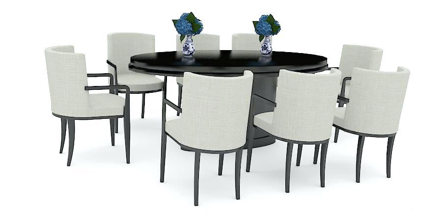 Buy 8 Seater Glass Dining Table New – Excitingpictureuniverse Inside Current Black 8 Seater Dining Tables (Image 8 of 20)