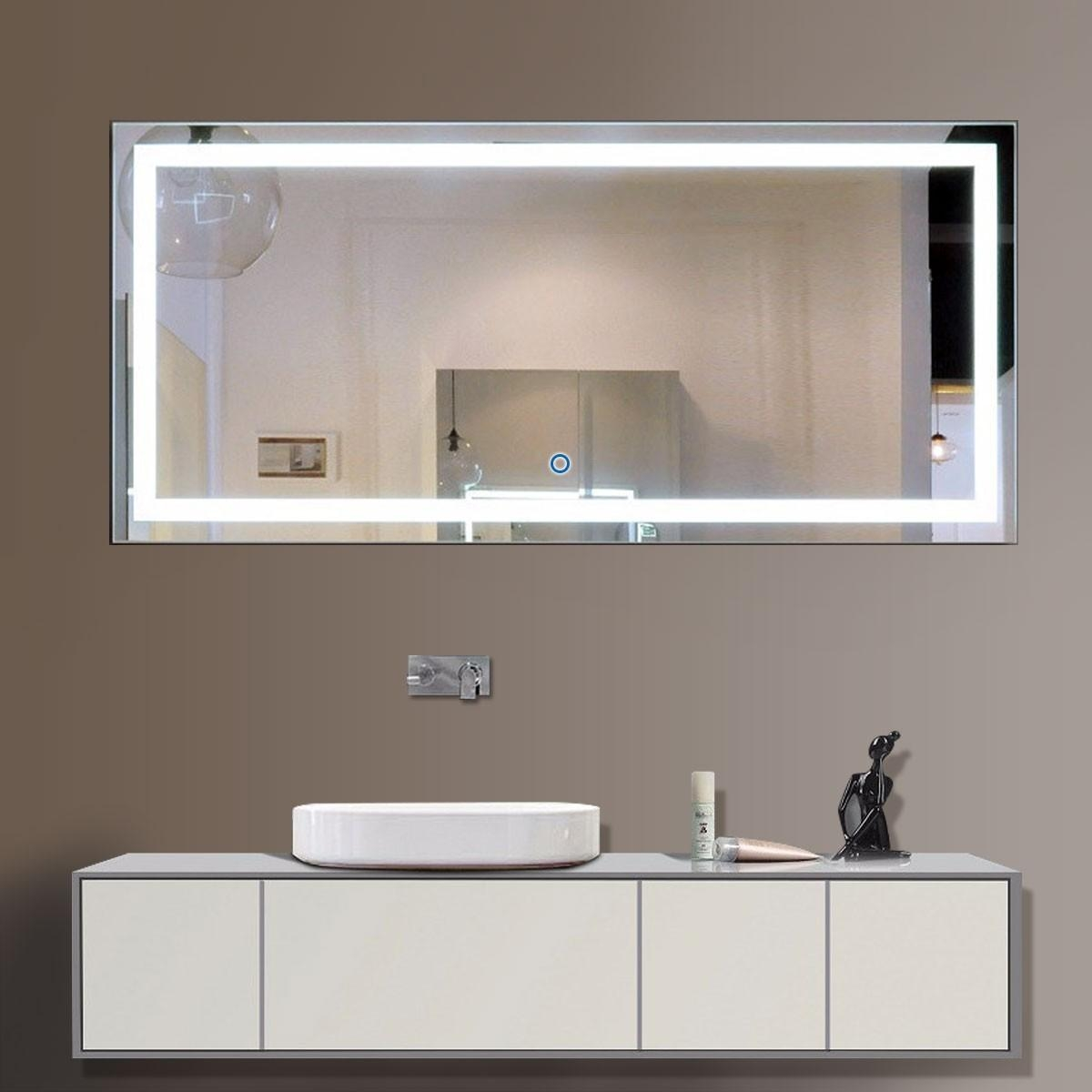 Buy Bathroom Led Lighted Mirrors, Backlit Mirrors | Decoraport Usa Throughout Led Lighted Mirrors (Image 8 of 20)