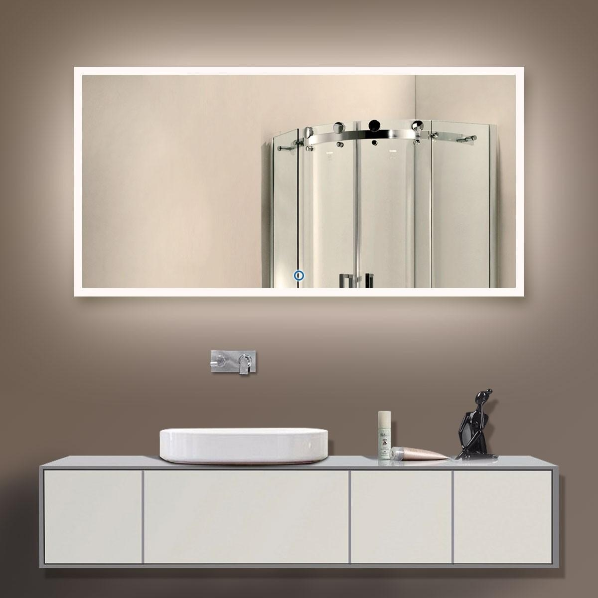 Buy Bathroom Led Lighted Mirrors, Backlit Mirrors | Decoraport Usa With Led Lighted Mirrors (Image 9 of 20)