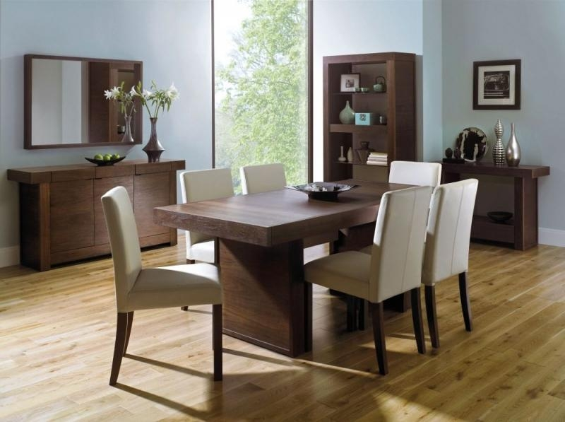 Buy Bentley Designs Akita Walnut Dining Table – 6 Seater Panel Pertaining To Newest Walnut Dining Tables And 6 Chairs (View 11 of 20)