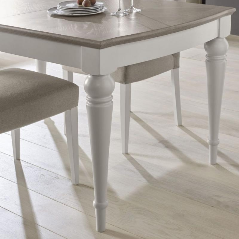 Buy Bentley Designs Montreux Grey Washed Oak And Soft Grey Dining With Recent Grey Dining Tables (Image 6 of 20)