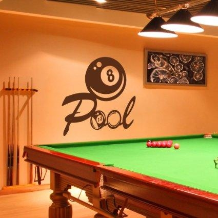 Buy Billiard Wall Decal Snooker Vinyl Sticker Wall Decor Home Inside Billiard Wall Art (View 12 of 20)