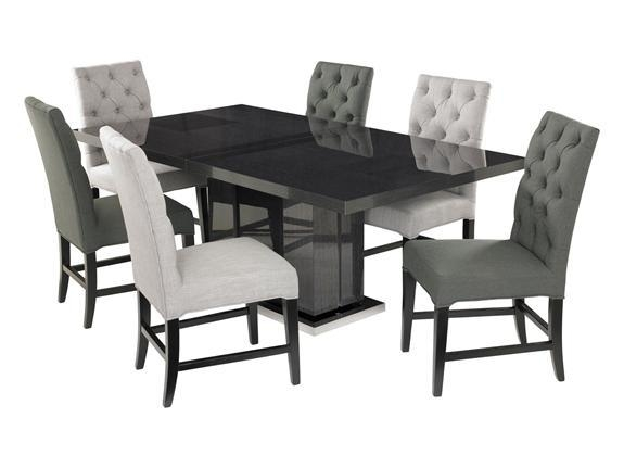 Buy Dining Furniture, Monte Carlo Dining Table & 6 Alpha Dove Throughout Best And Newest Chester Dining Chairs (Image 4 of 20)