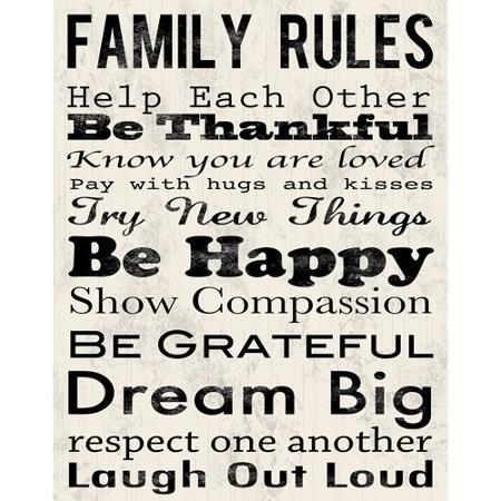 "Buy Family Rules B Canvas Wall Art, 15"" X 19"" In Cheap Throughout Family Rules Canvas Wall Art (View 2 of 20)"
