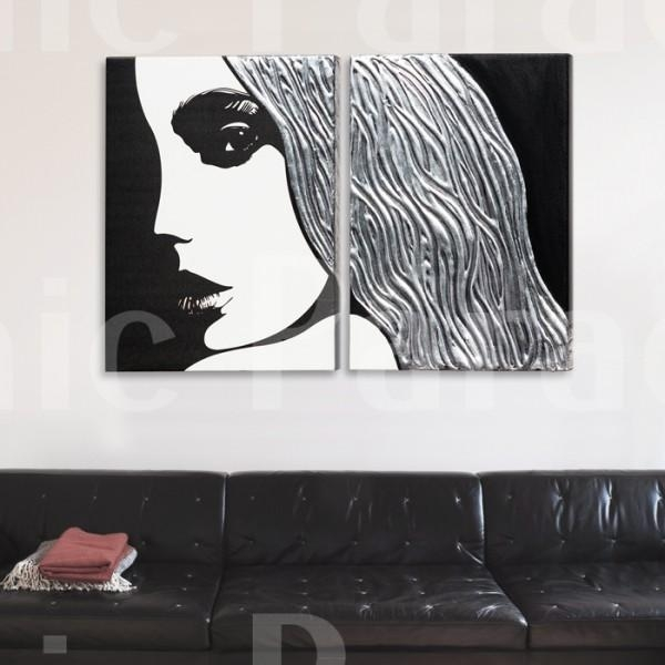 Buy Femme Textured Contemporary Italian Wall Art | £55 Off With Pertaining To Contemporary Italian Wall Art (Image 3 of 20)