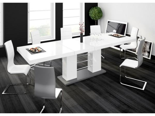Buy High Gloss White Extendable Dining Table | £55 Off With Code With Regard To Latest Black High Gloss Dining Tables (Image 5 of 20)