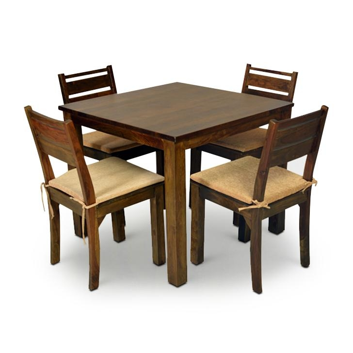 Buy Java Four Seater Dining Set Brown Online In India Regarding Most Popular Java Dining Tables (Image 9 of 20)