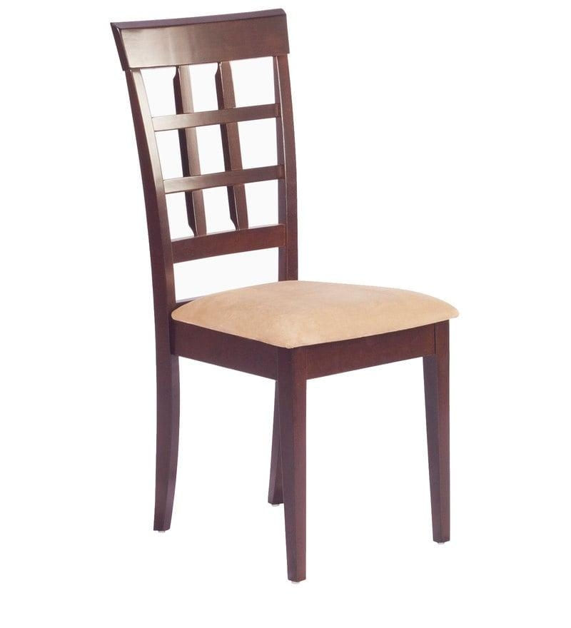 Buy Lisa Dining Chair (Set Of 2) In Indian Mahogany Finish Regarding Recent Indian Dining Chairs (Image 4 of 20)