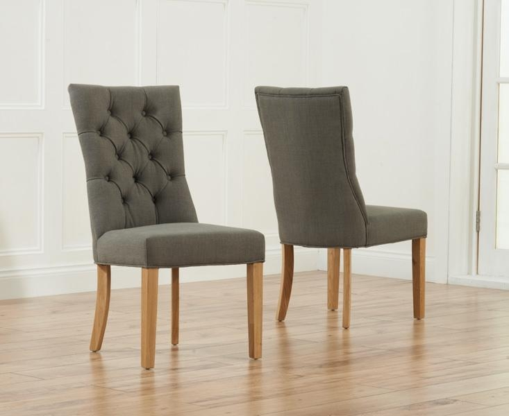 Buy Mark Harris Albury Grey Dining Chair (Pair) Online – Cfs Uk Within Current Grey Dining Chairs (Image 4 of 20)