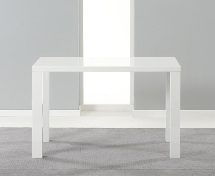 Buy Mark Harris Ava White High Gloss 120Cm Dining Table Online In White Gloss Dining Tables 120Cm (Image 6 of 20)