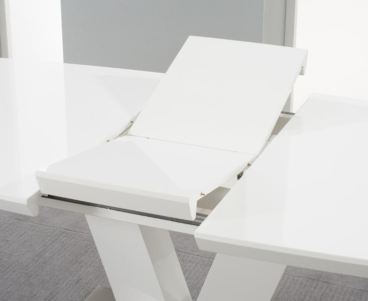Buy Mark Harris Malibu White High Gloss Extending Dining Table Inside Recent High Gloss White Extending Dining Tables (Image 2 of 20)