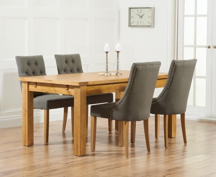 Buy Mark Harris Rustique Solid Oak Dining Set – 180Cm Extending Inside Newest 180Cm Dining Tables (Image 5 of 20)