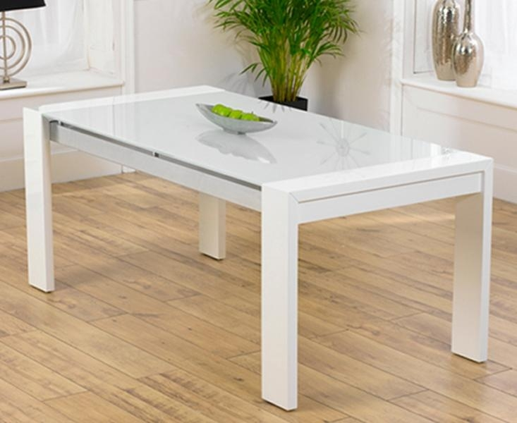 Buy Mark Harris Sophia High Gloss White Dining Table Online – Cfs Uk With 2017 Cheap White High Gloss Dining Tables (Image 6 of 20)