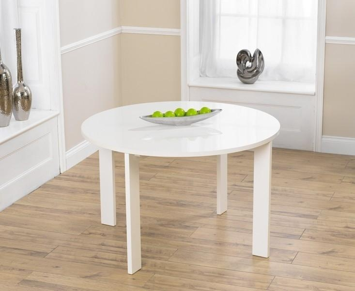 Buy Mark Harris Sophia High Gloss White Round Dining Table Online Throughout Current High Gloss Round Dining Tables (Image 6 of 20)