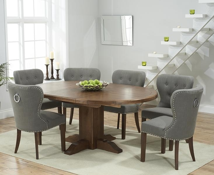 Buy Mark Harris Turin Solid Dark Oak Round Extending Dining Set With Best And Newest Round Extending Oak Dining Tables And Chairs (Image 7 of 20)