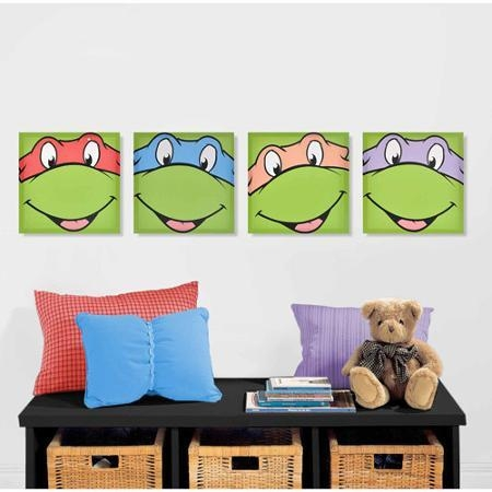 Buy Nickelodeon Teenage Mutant Ninja Turtles 4 Pack Canvas Wall With Regard To Tmnt Wall Art (Image 5 of 20)
