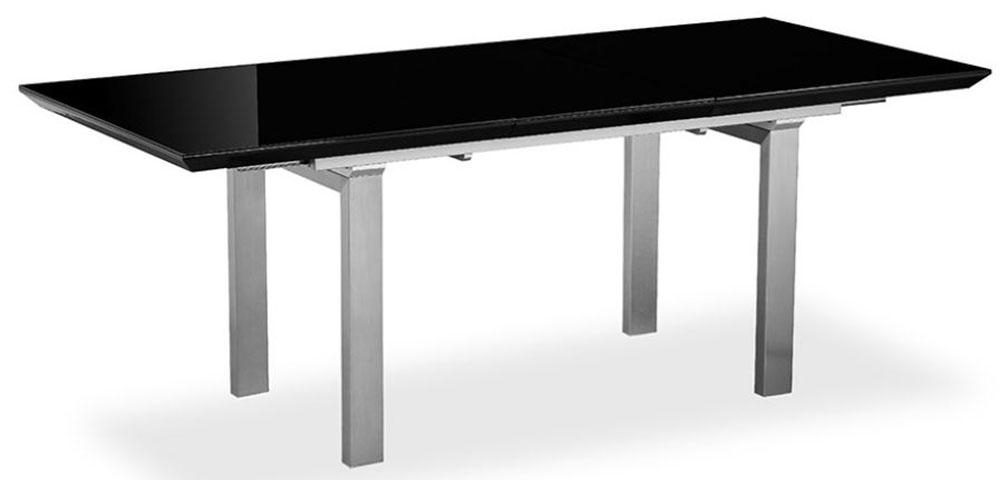 Buy Pella Black High Gloss Extending Dining Table Online – Cfs Uk For Most Recently Released Black Extending Dining Tables (Image 6 of 20)