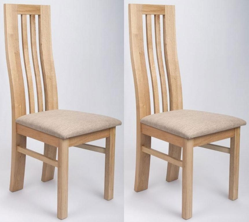 Buy Shankar Phoenix Oak Dining Chair (Pair) Online – Cfs Uk Intended For Most Recently Released Oak Dining Chairs (View 11 of 20)
