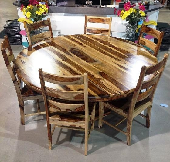 Buy Solid Wood Sheesham Dining Table W/6 Wooden Chairs At Shop The Within Most Popular Sheesham Wood Dining Chairs (Image 2 of 20)