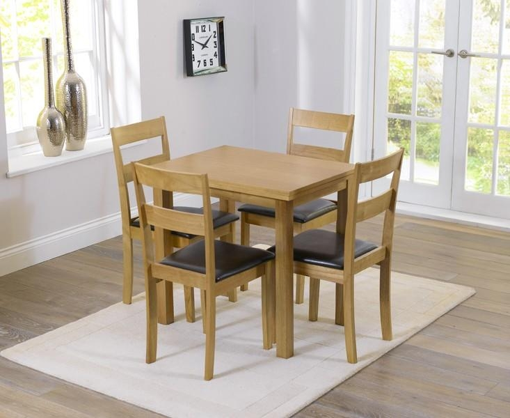 Buy The Hastings 60Cm Extending Dining Table And Chairs At Oak Pertaining To Most Recently Released Small Extending Dining Tables And 4 Chairs (Image 3 of 20)