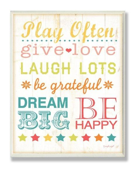 Buy The Kids Roomstupell Rainbow Chalkboard Playroom Rules With Regard To Playroom Rules Wall Art (Image 10 of 20)