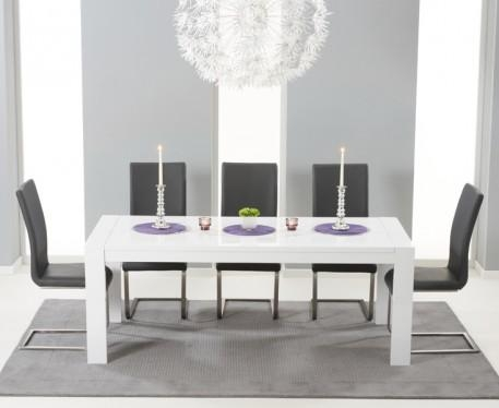 Buy The Venice 200Cm White High Gloss Extending Dining Table With Inside Newest High Gloss Extendable Dining Tables (View 11 of 20)