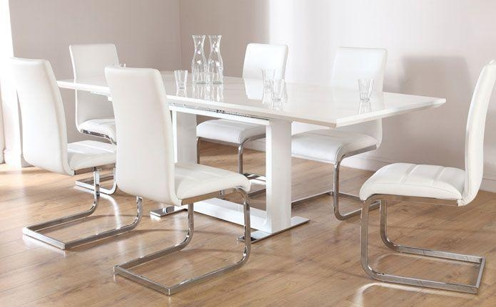 Buy Tokyo & Perth Extending Dining Set (White) At Furniture Choice Inside Most Up To Date Perth White Dining Chairs (Image 8 of 20)