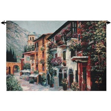 Buy Walk Back In Time Italian Village Cotton Wall Art Hanging Regarding Italian Village Wall Art (Image 7 of 20)