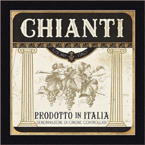 Buy Wine Labels Iii Pela Studio Italian Chianti Art Print Framed With Italian Wine Wall Art (Image 11 of 20)