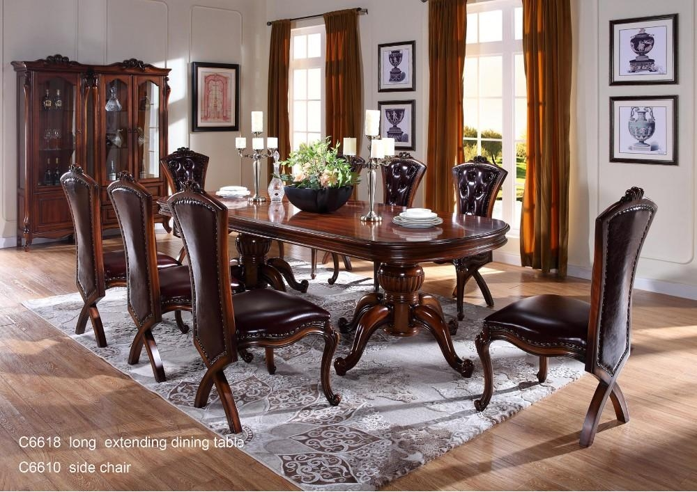 C6618 Wooden Traditional Indian Dining Table , Dining Room In Most Popular Indian Dining Tables (Image 5 of 20)