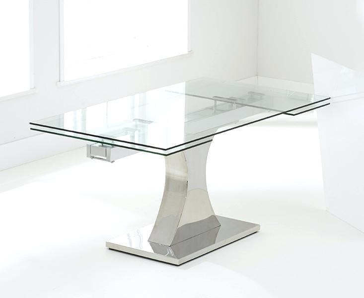 Calgary 140Cm Extending Glass Dining Table With Calgary Chairs In Most Current Extendable Glass Dining Tables And 6 Chairs (Image 4 of 20)