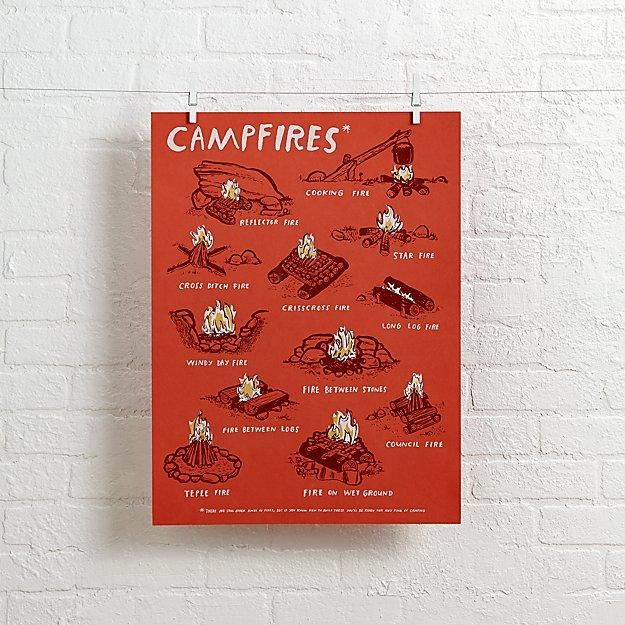 Campfires Wall Art | The Land Of Nod Intended For Land Of Nod Wall Art (Image 6 of 20)