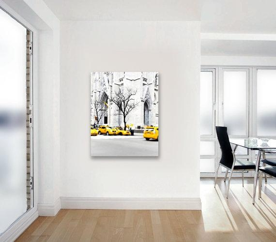 Canvas Art New York City Yellow Taxis Black And White New Inside Black And White New York Canvas Wall Art (Image 6 of 20)