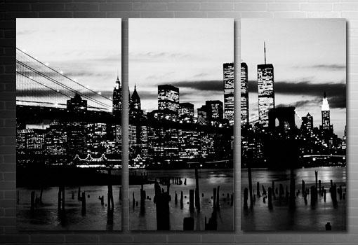 Canvas Art Prints New York – Thesecretconsul Regarding New York Skyline Canvas Black And White Wall Art (Image 5 of 20)