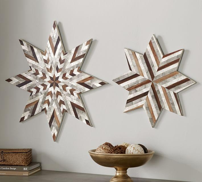 Capiz Star Wall Art | Pottery Barn Pertaining To Capiz Wall Art (Image 4 of 20)