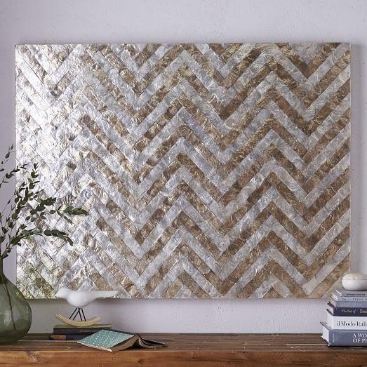 Capiz Wall Art – Chevron | West Elm With Regard To Capiz Wall Art (Image 13 of 20)