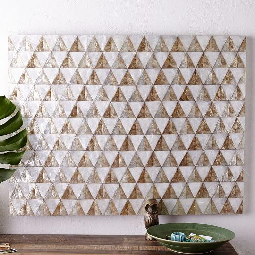 Capiz Wall Art – Triangle | West Elm Intended For Capiz Wall Art (Image 14 of 20)
